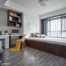 精美面积108平现代三居卧室效果图