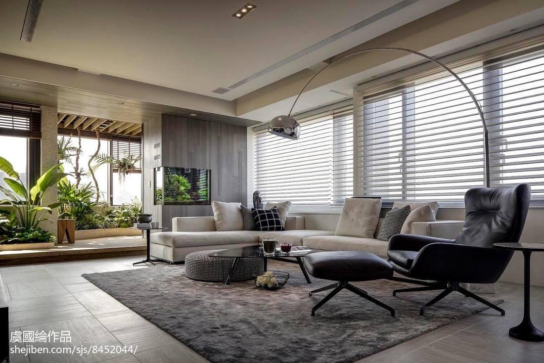轻奢513平现代别墅客厅设计案例