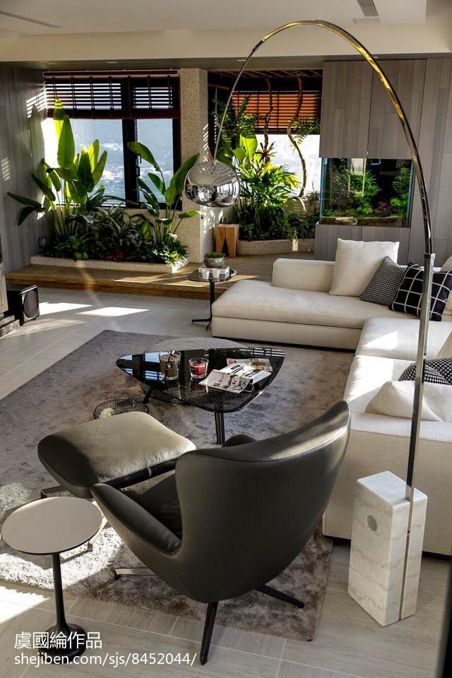 温馨881平现代别墅客厅装潢图