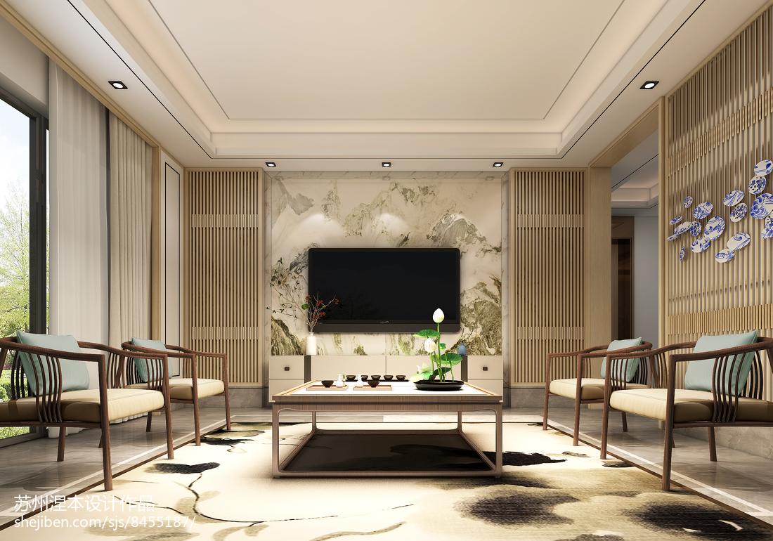 2018最新面积140平中式四居客厅装修图片欣赏