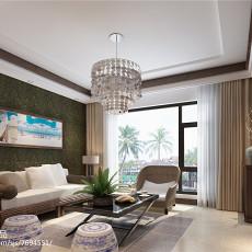 2018精选101平米三居客厅东南亚效果图片大全