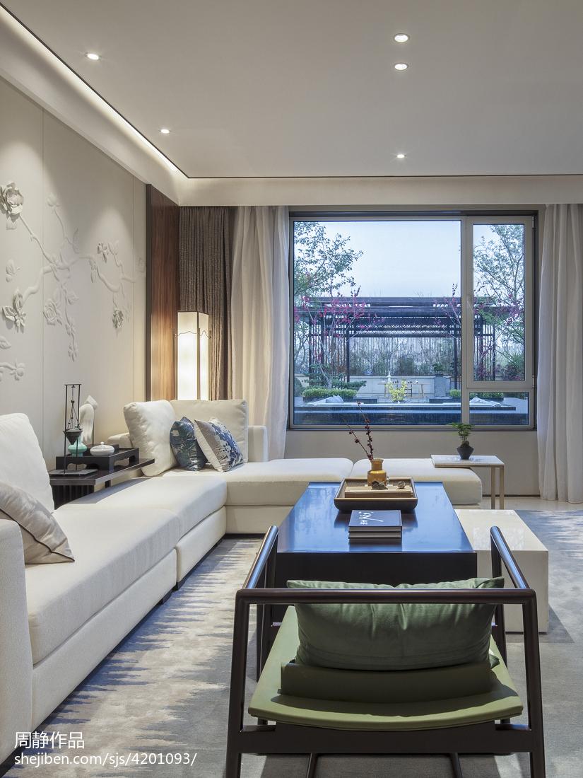 悠雅834平中式别墅客厅装修设计图