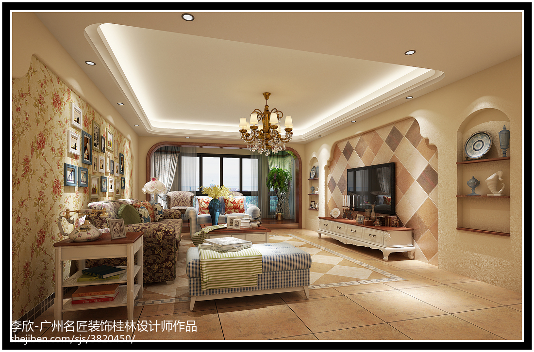 田园风格客厅装修效果图欣赏