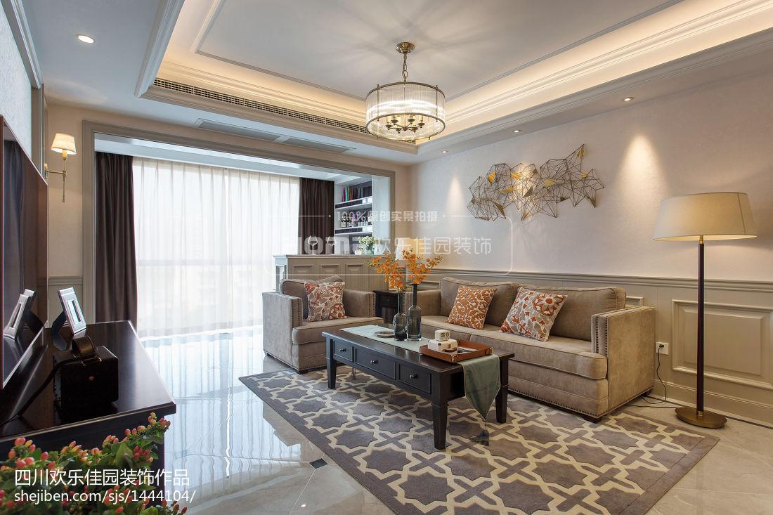 热门美式二居客厅实景图片欣赏