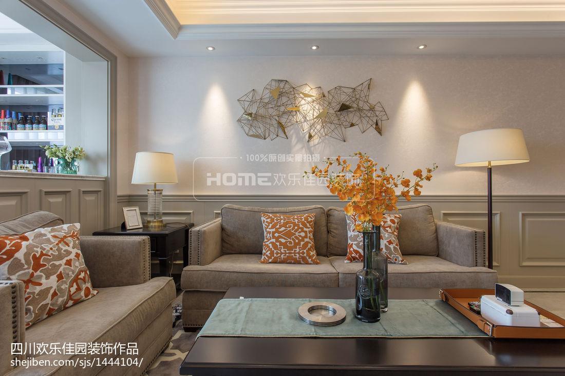 精美面积70平美式二居客厅效果图