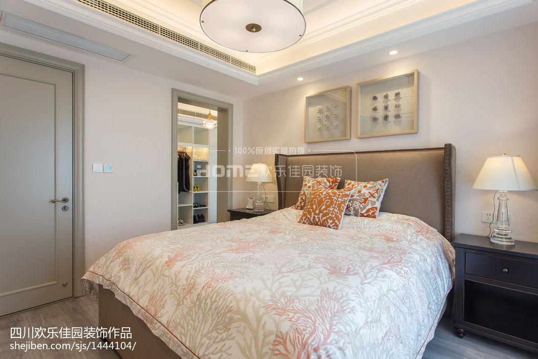 精选78平米二居卧室美式装饰图片大全