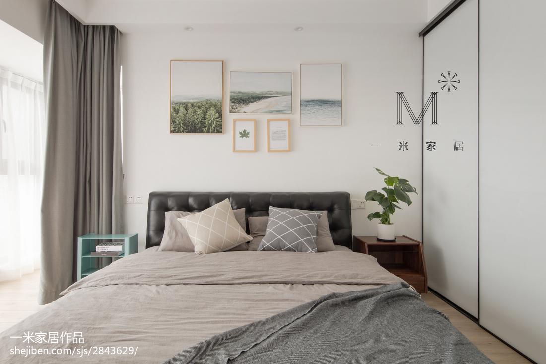 简洁114平北欧三居卧室装饰图