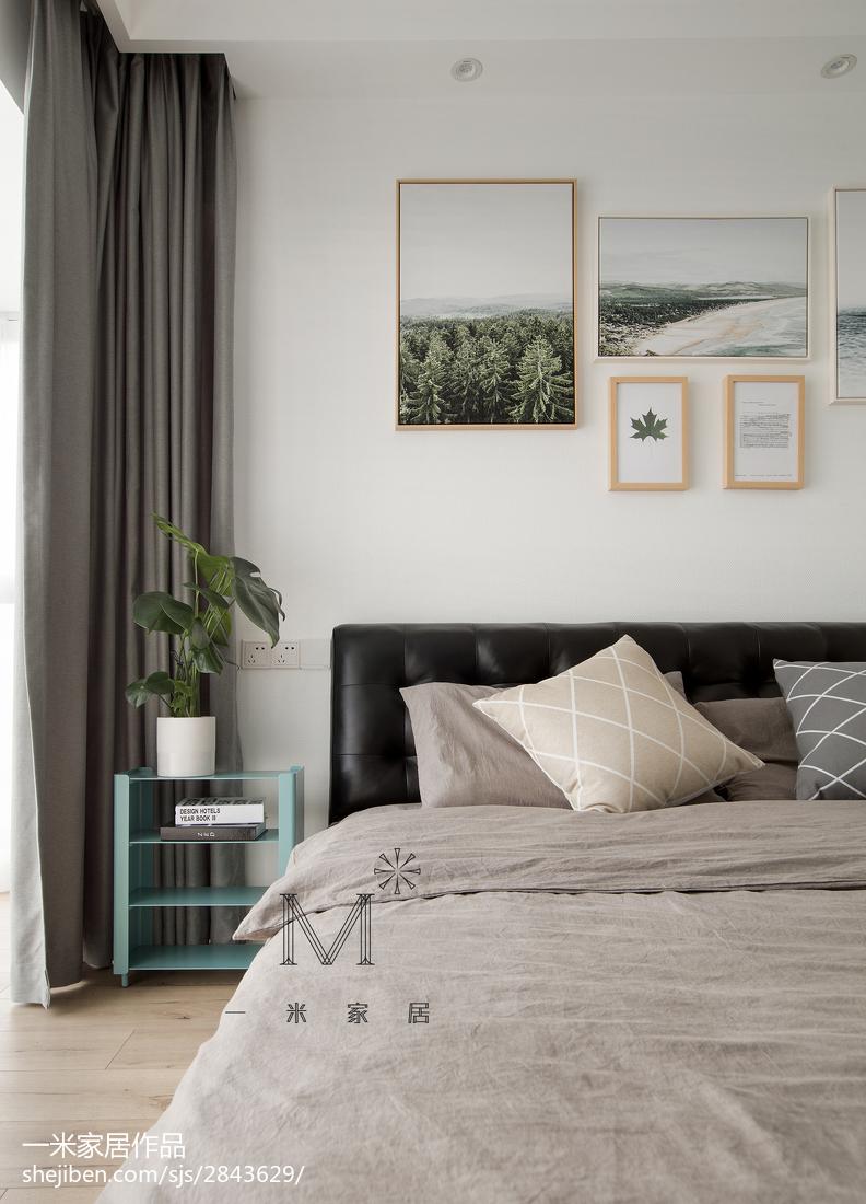 温馨123平北欧三居卧室装修效果图