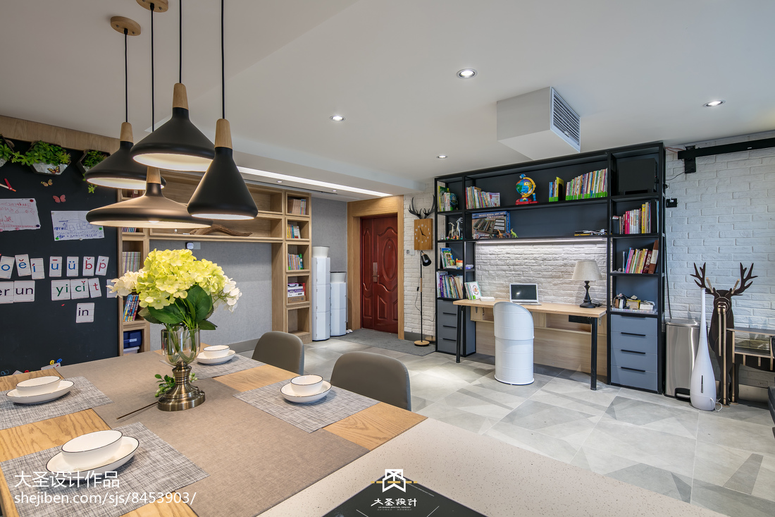 2018精选面积106平北欧三居客厅装修设计效果图片大全