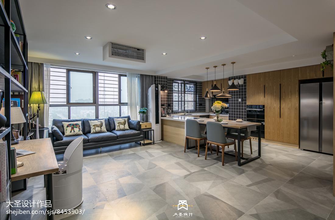 精选面积98平北欧三居客厅装修设计效果图片大全
