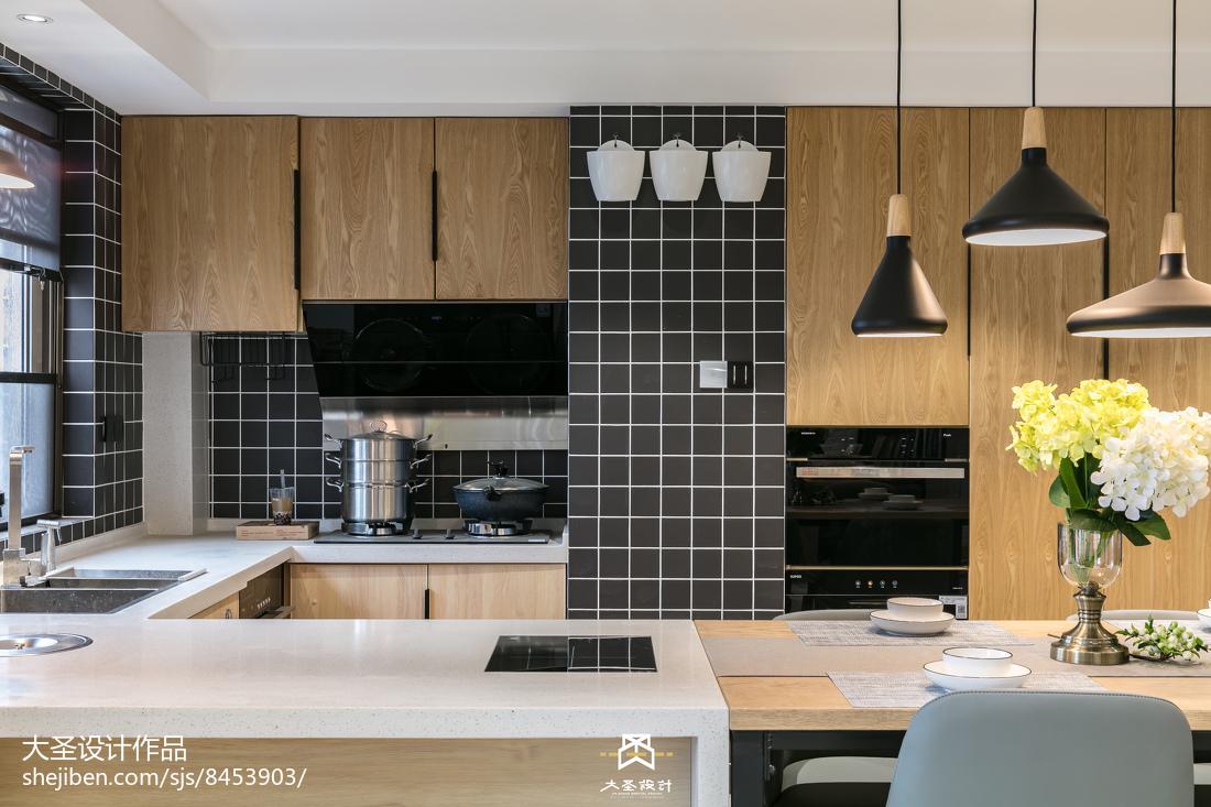精美面积101平北欧三居厨房装修效果图
