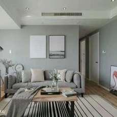 热门97平米三居客厅北欧装修图