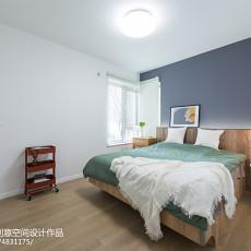 精美面积78平北欧二居卧室效果图片欣赏