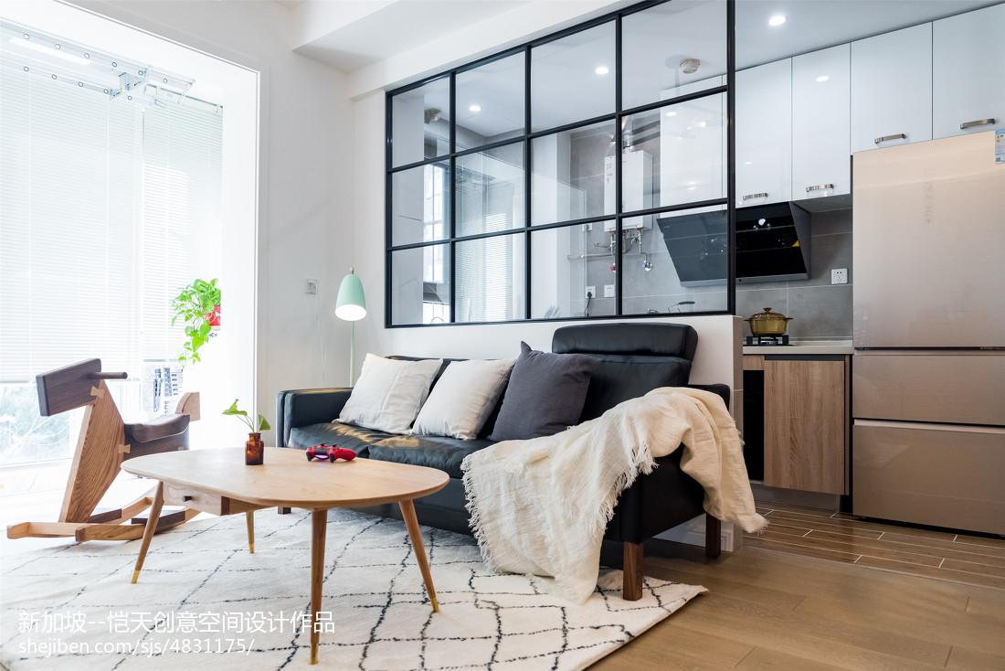 精简北欧二居客厅沙发设计图