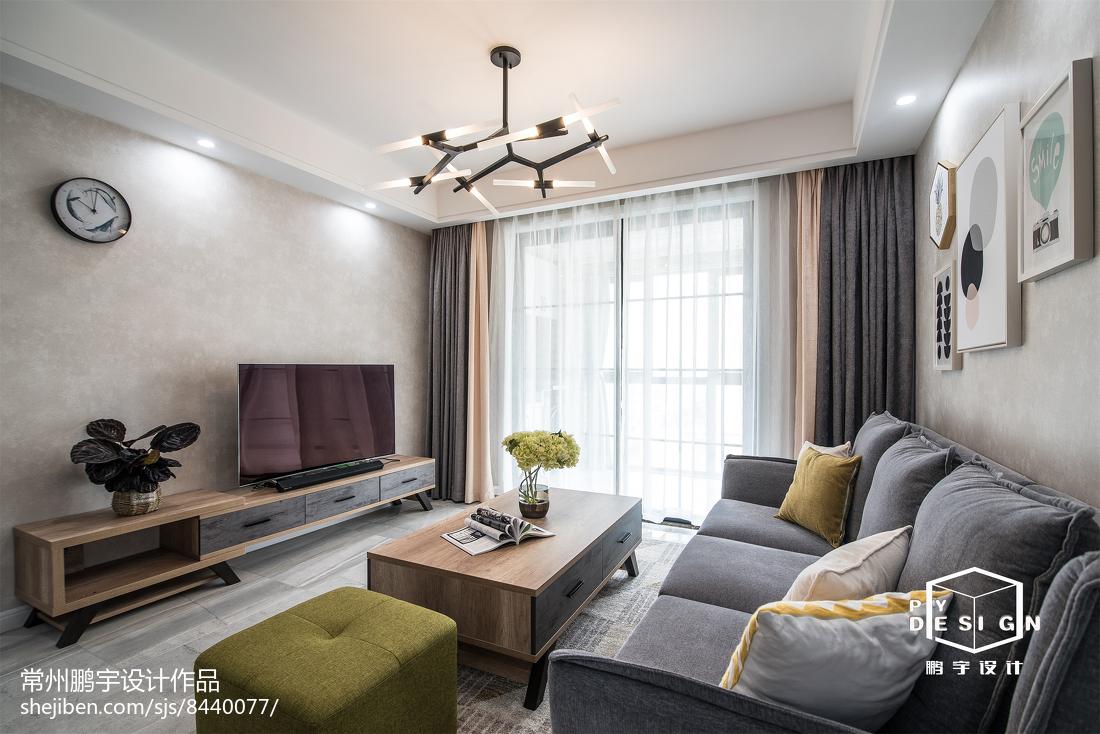 精美95平米三居客厅宜家装修效果图片大全
