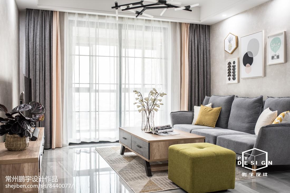 大气93平宜家三居客厅设计图