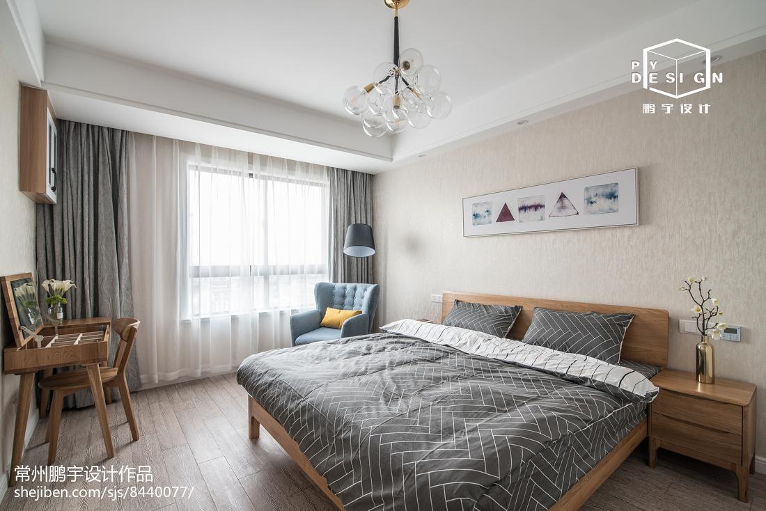 精美面积104平宜家三居卧室装饰图片