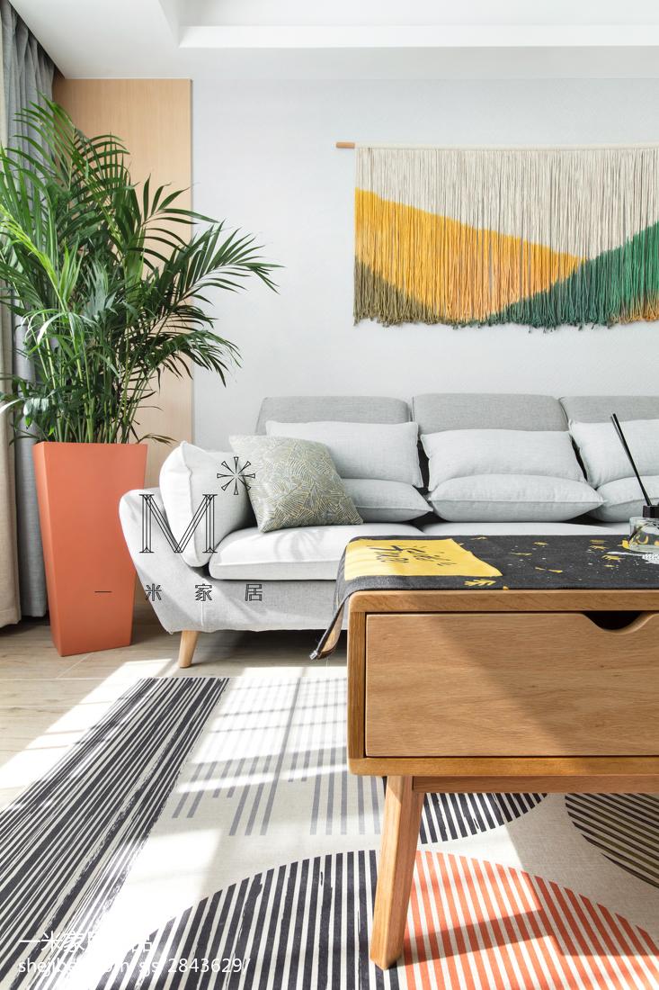 面积89平北欧二居客厅装修设计效果图片