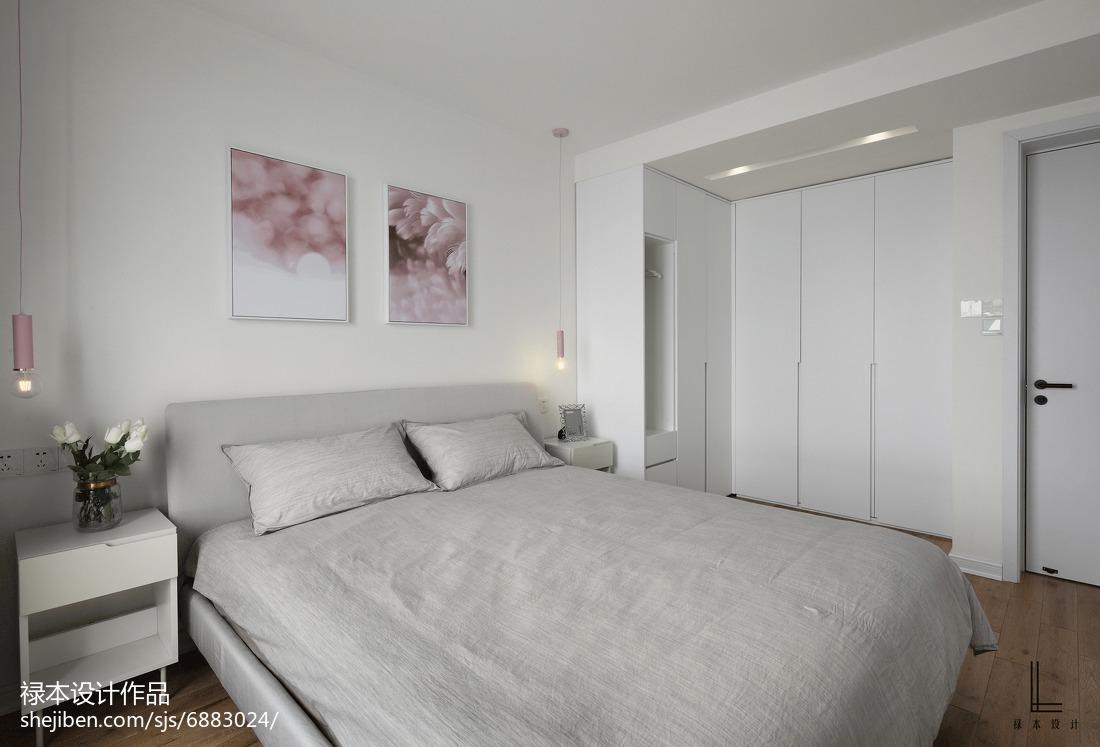 2018107平米三居卧室北欧效果图片大全
