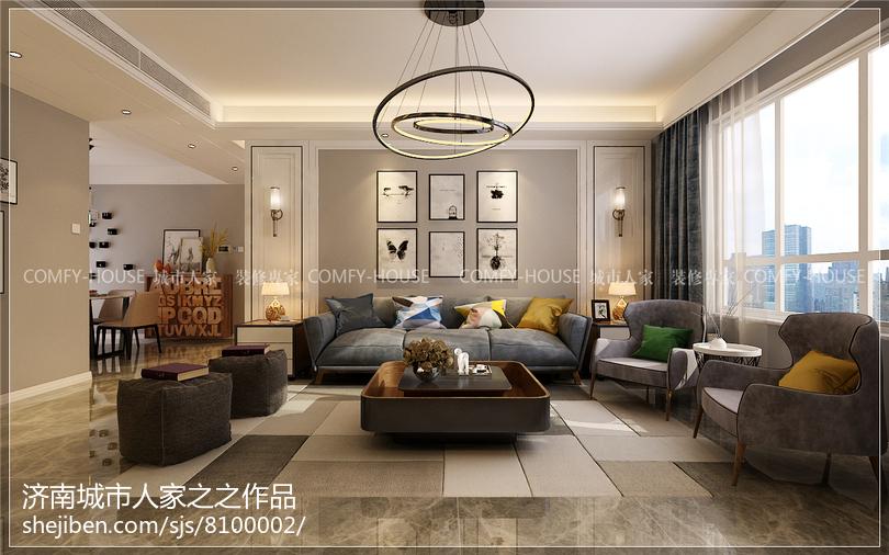现代室内客厅装修设计效果图