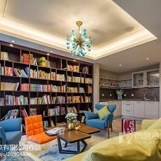 热门面积144平别墅书房中式效果图片欣赏