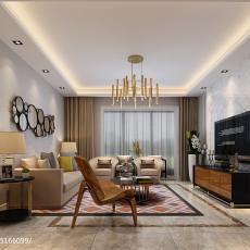 精美面积74平小户型客厅简约装饰图片大全