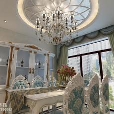 豪华美式装修室内样板间效果图