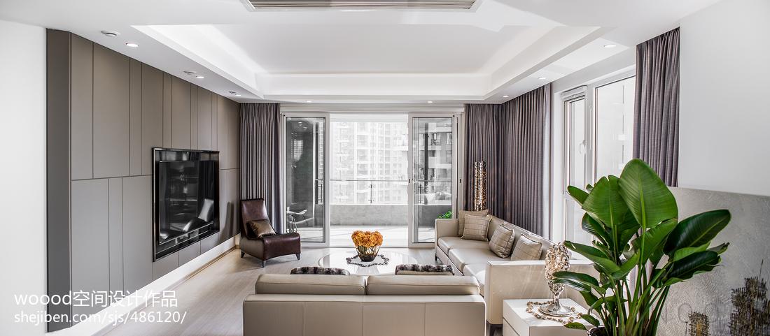 精选四居客厅现代装修实景图片