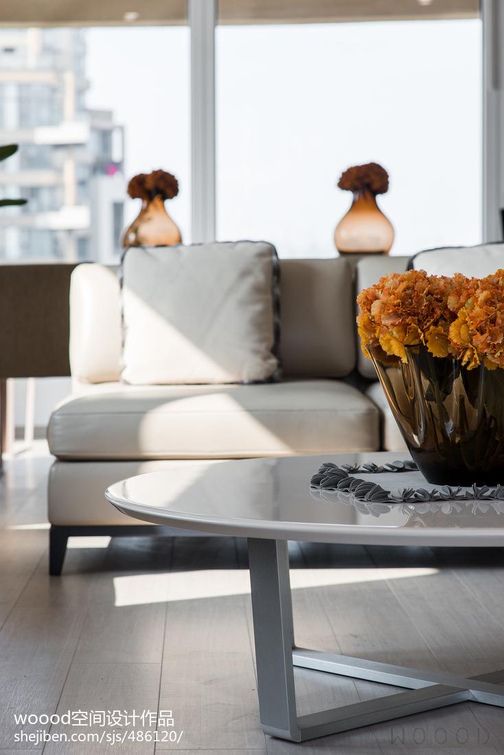 2018精选面积134平现代四居客厅效果图