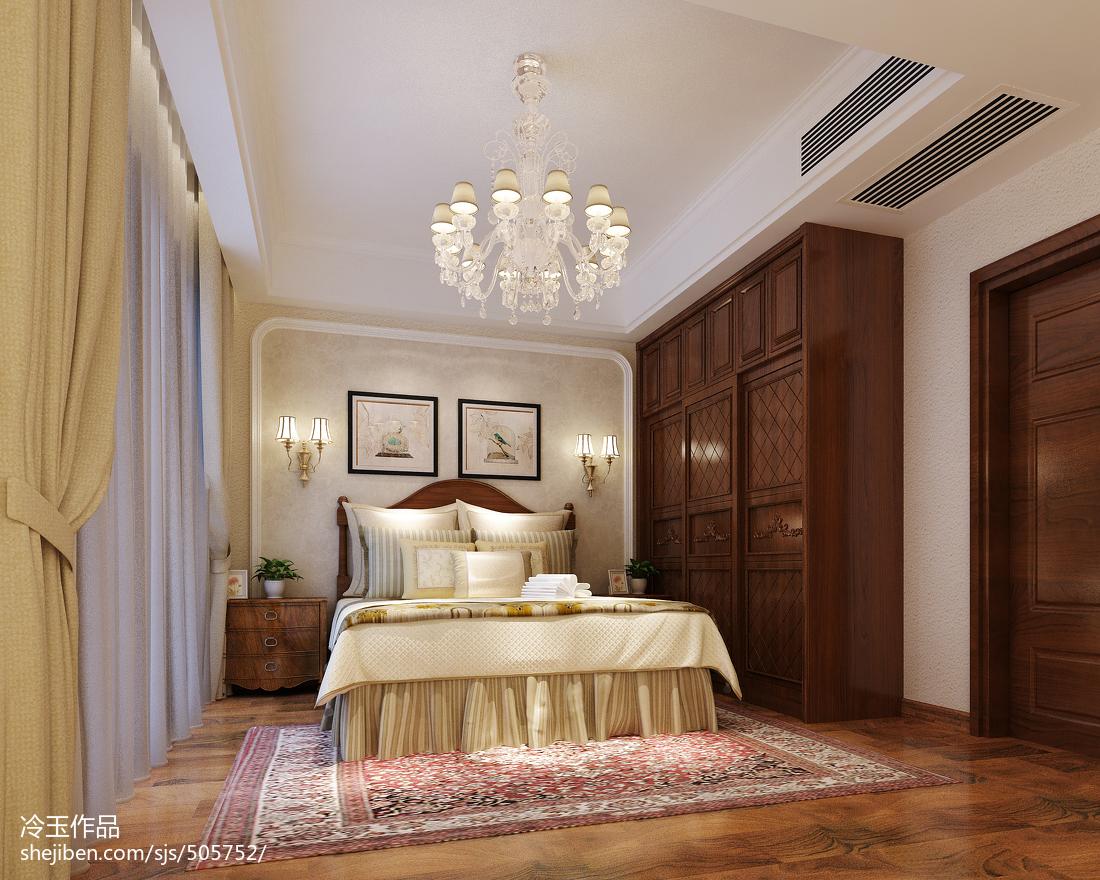 美式格调打造四居室卧室装修效果图