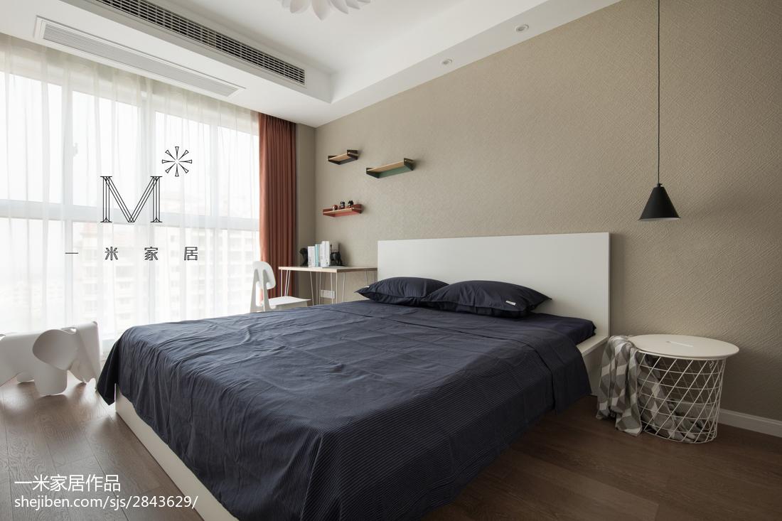 热门90平米二居卧室北欧装修效果图