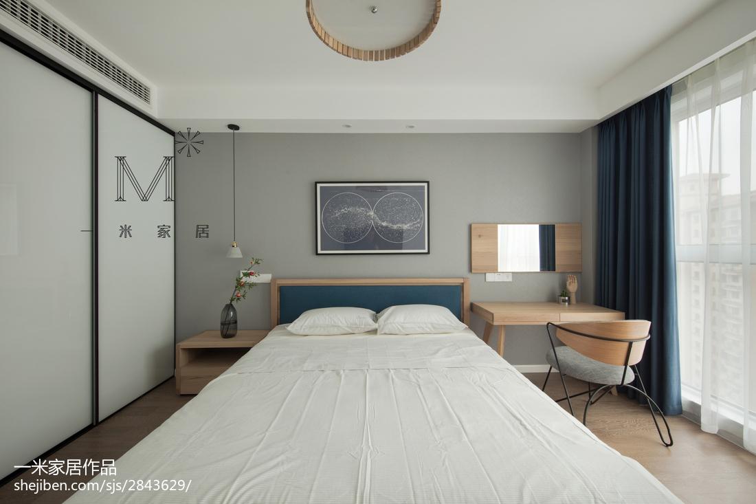 精选77平米二居卧室北欧装饰图