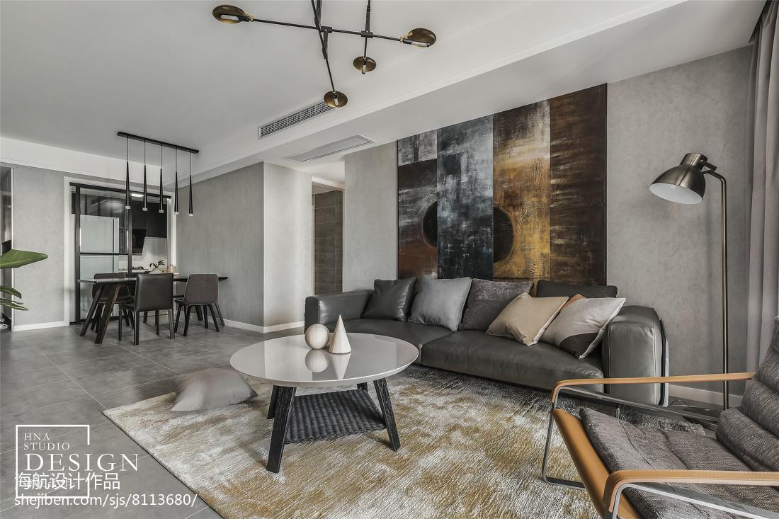 精美面积106平现代三居客厅装修实景图片大全