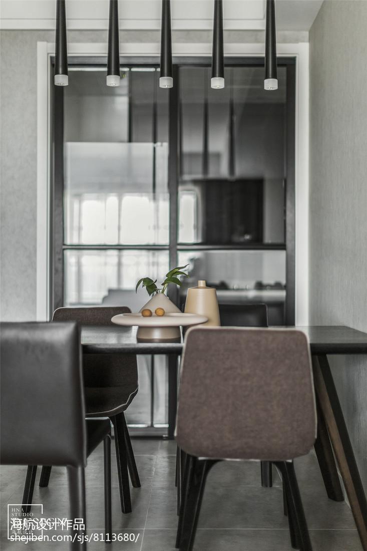 精选大小107平现代三居餐厅实景图片