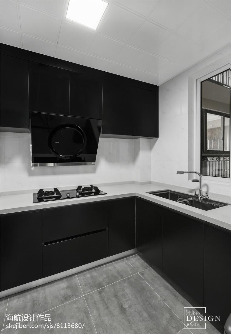 2018精选面积103平现代三居厨房装修图