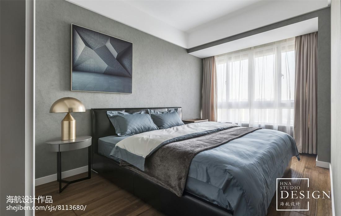 热门96平米三居卧室现代实景图片