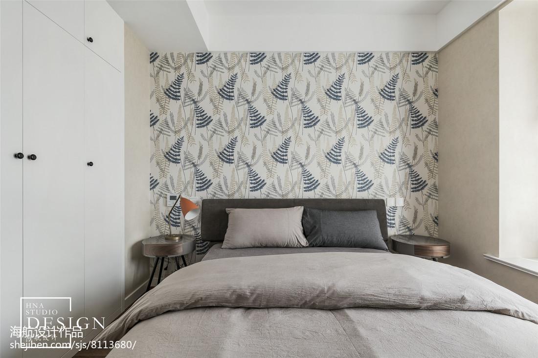 2018面积105平现代三居卧室装修效果图片欣赏