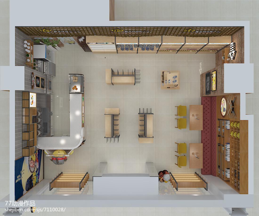 儒雅现代风格书房设计