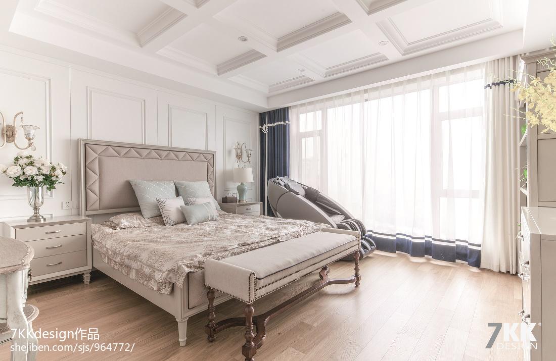 大气92平美式三居卧室图片欣赏
