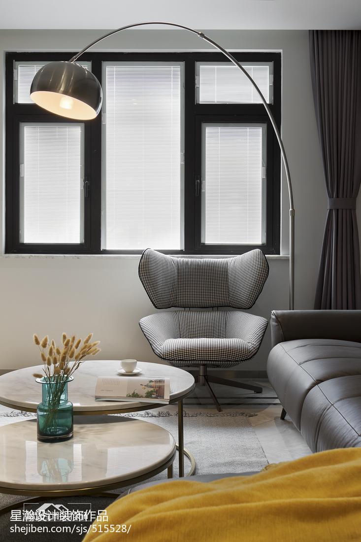 优雅60平现代复式客厅设计美图