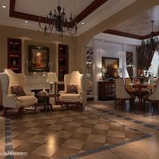 精选127平米中式别墅餐厅装修设计效果图片