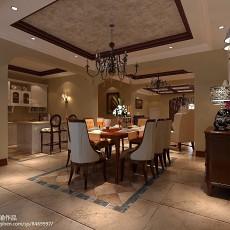 精美面积117平别墅餐厅中式装修设计效果图