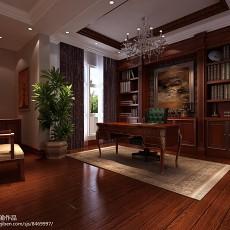精选面积123平别墅书房中式装修实景图