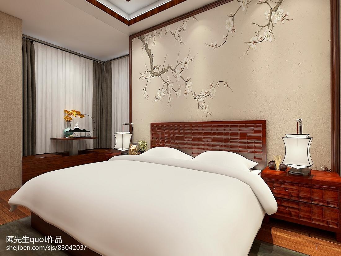 家装室内设计卧室窗帘图片