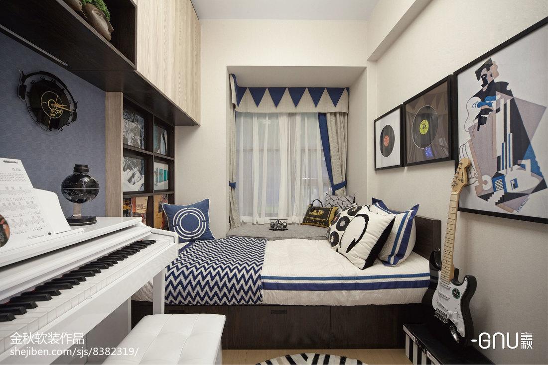 精致262平北欧样板间卧室设计效果图