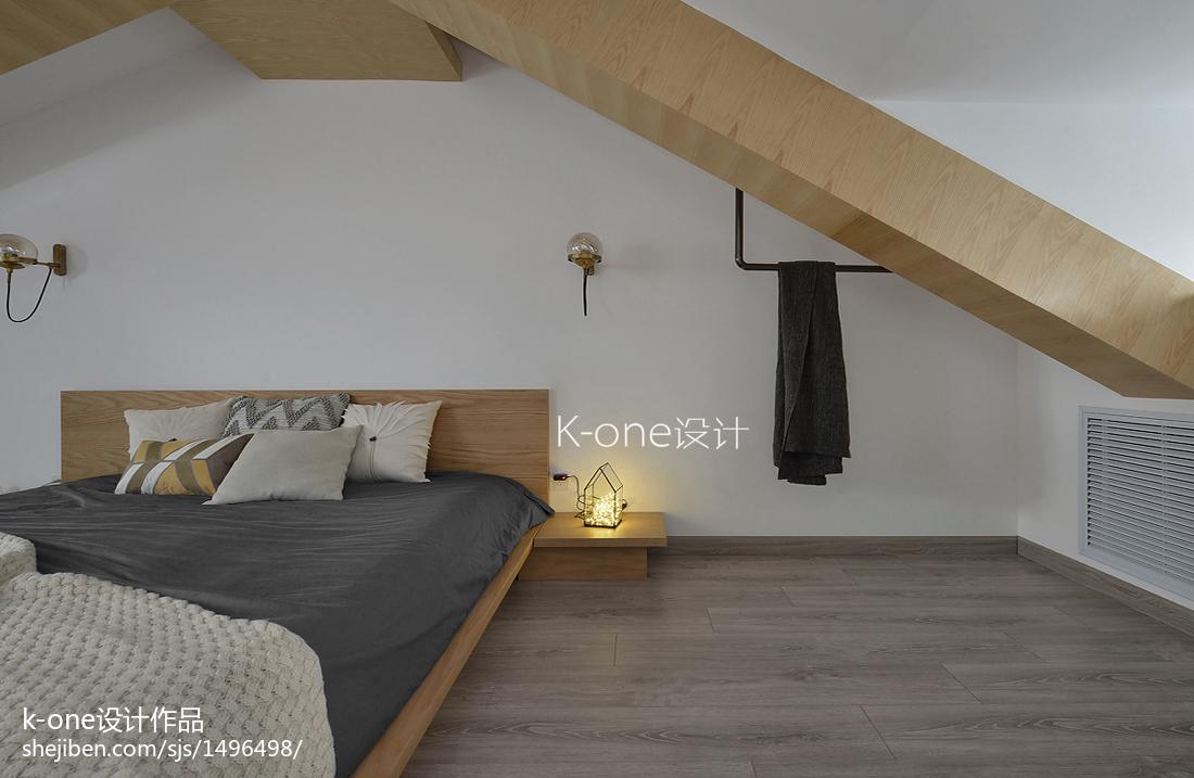 优雅74平简约复式卧室装修案例