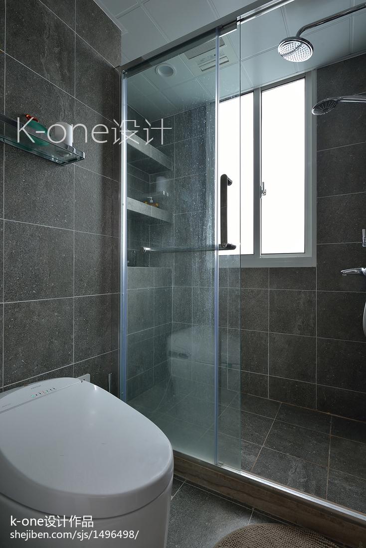 精致70平简约复式卫生间装修设计图