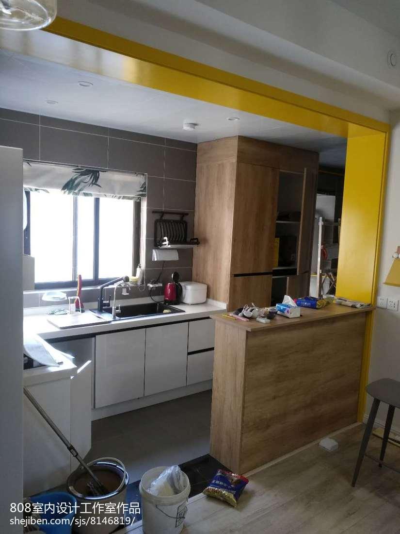 質樸110平簡約三居廚房實拍圖