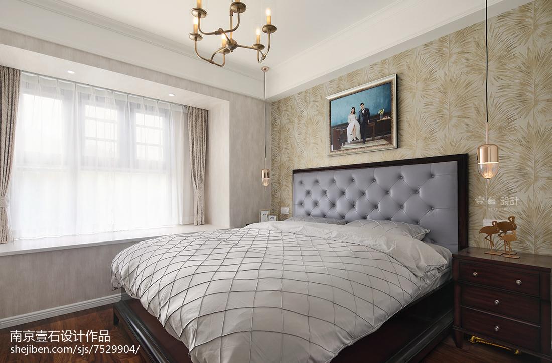 108平米三居卧室美式装饰图片大全