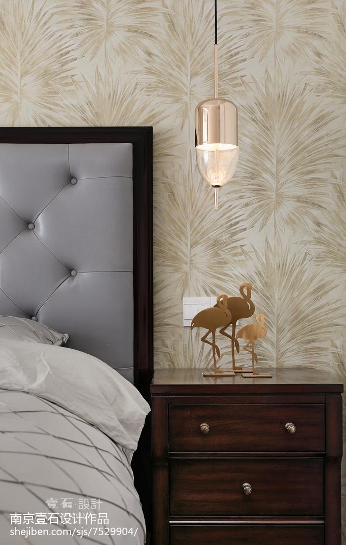 精美面积99平美式三居卧室装修图